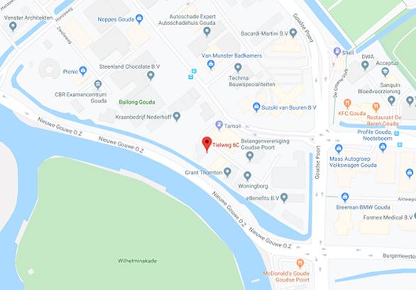 Googlemaps regio Gouda