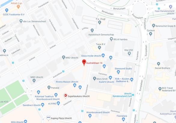 Googlemaps Landelijk bureau